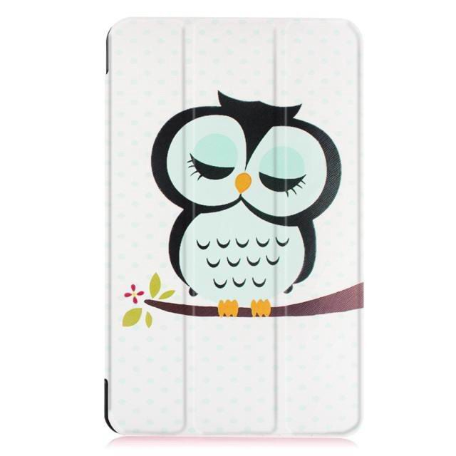 galaxy tab e 8 0 bright painted case with different pictures Owl: