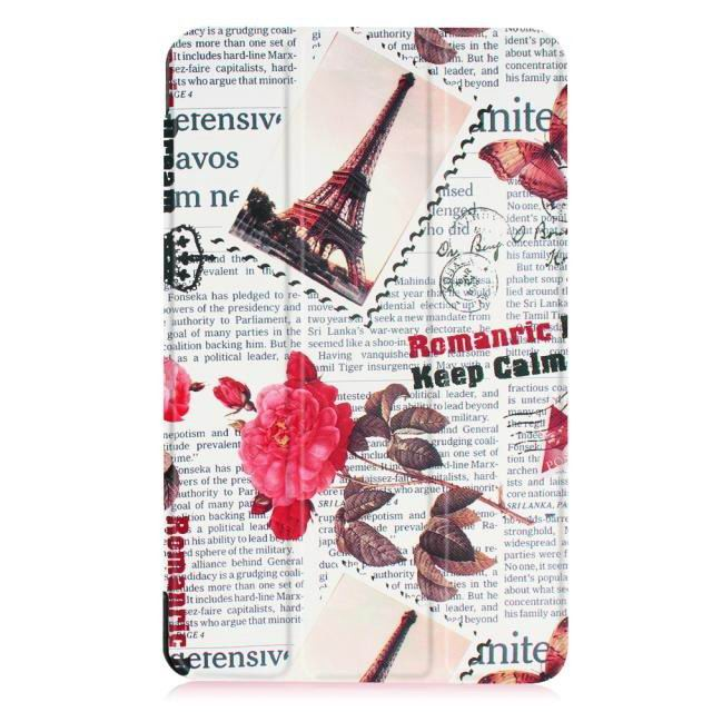 galaxy tab e 8 0 bright painted case with different pictures Vintage newspaper:
