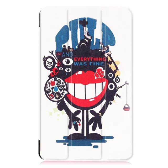galaxy tab e 8 0 bright painted case with different pictures Big mouth to blame:
