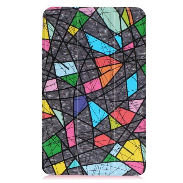 galaxy tab e 8 0 bright painted case with different pictures Church window: