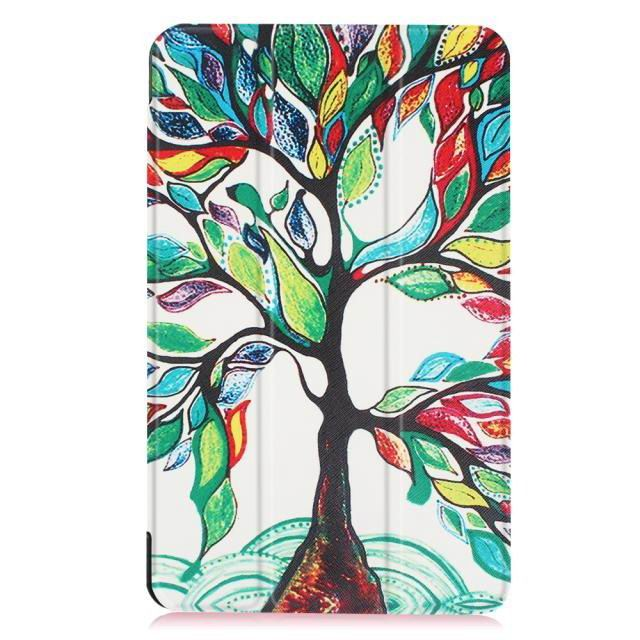 galaxy tab e 8 0 bright painted case with different pictures Happy tree: