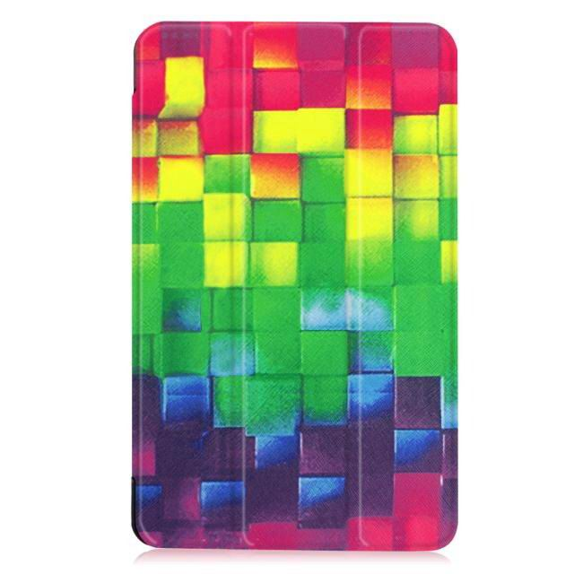 galaxy tab e 8 0 bright painted case with different pictures Color block: