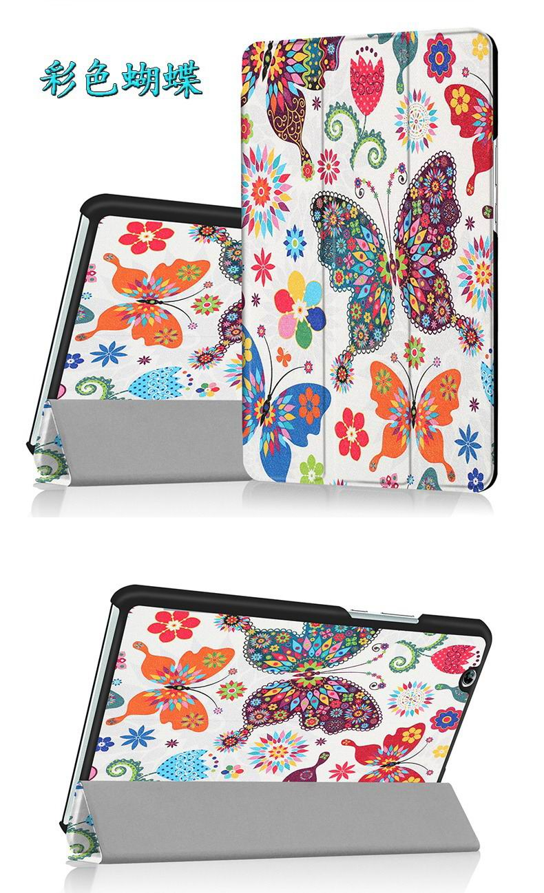 mediapad m3 bright painted case with pictures of paris butterflies and other
