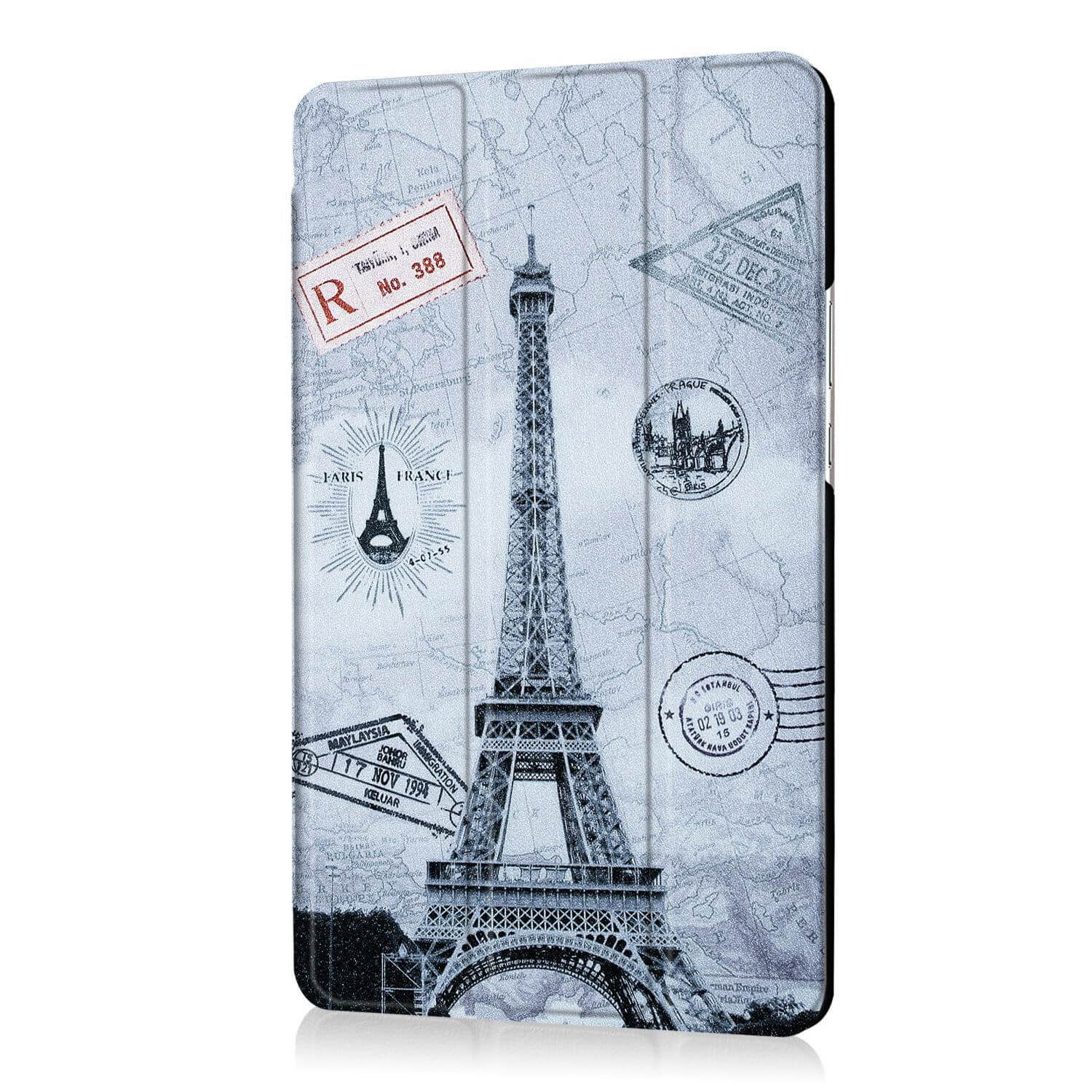 mediapad m3 bright painted case with pictures of paris butterflies and other Vintage Tower: