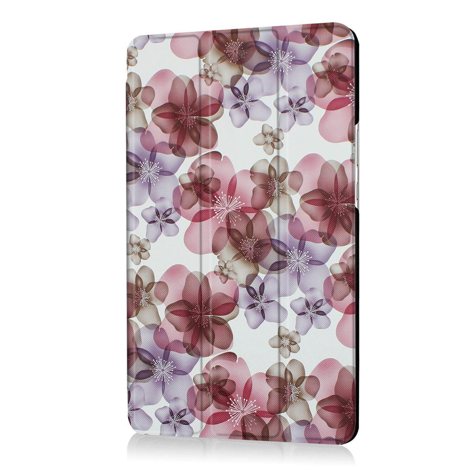 mediapad m3 bright painted case with pictures of paris butterflies and other Color flowers: