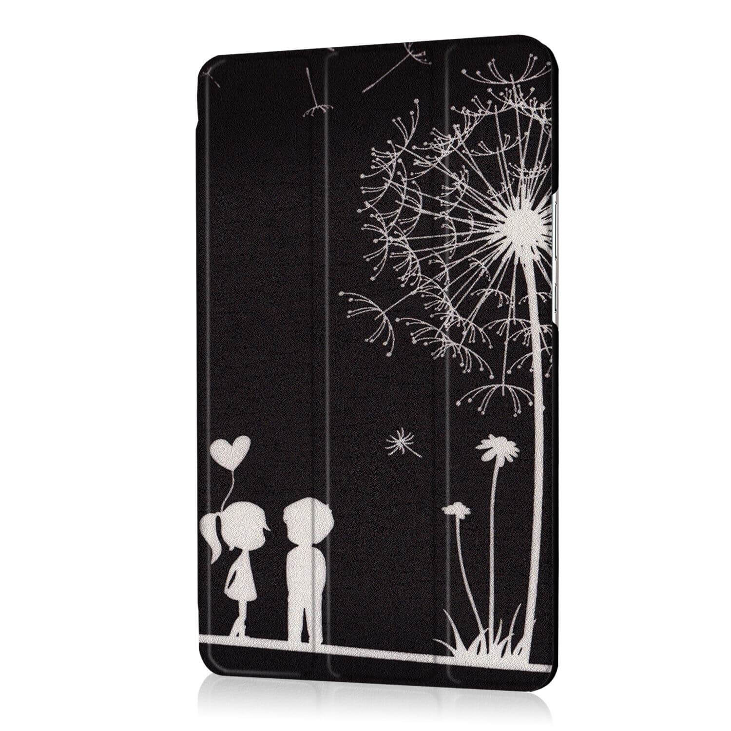 mediapad m3 bright painted case with pictures of paris butterflies and other Black couple: