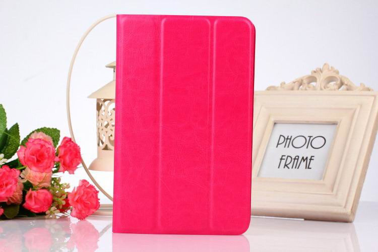 tab3 10 bright plain case rose red:
