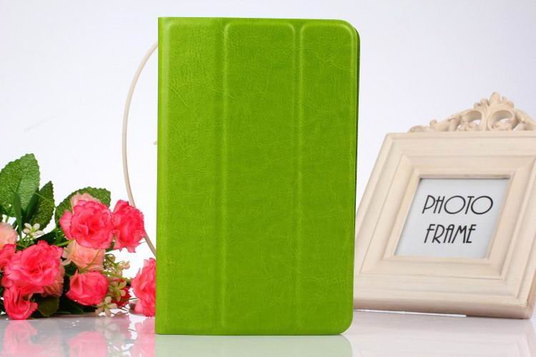 tab3 10 bright plain case green: