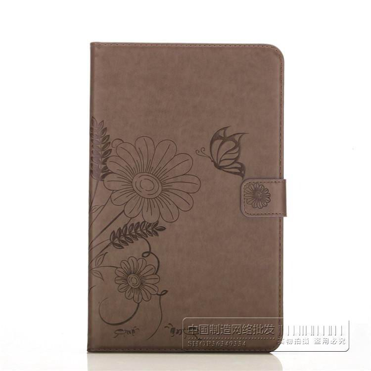 galaxy tab a 10 1 2016 bright plain case with butterfly flower pattern samsung galaxy tab a 10 1 2016 sm t580 sm t585 Light brown: