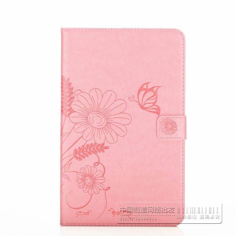 galaxy tab a 10 1 2016 bright plain case with butterfly flower pattern samsung galaxy tab a 10 1 2016 sm t580 sm t585 Light pink: