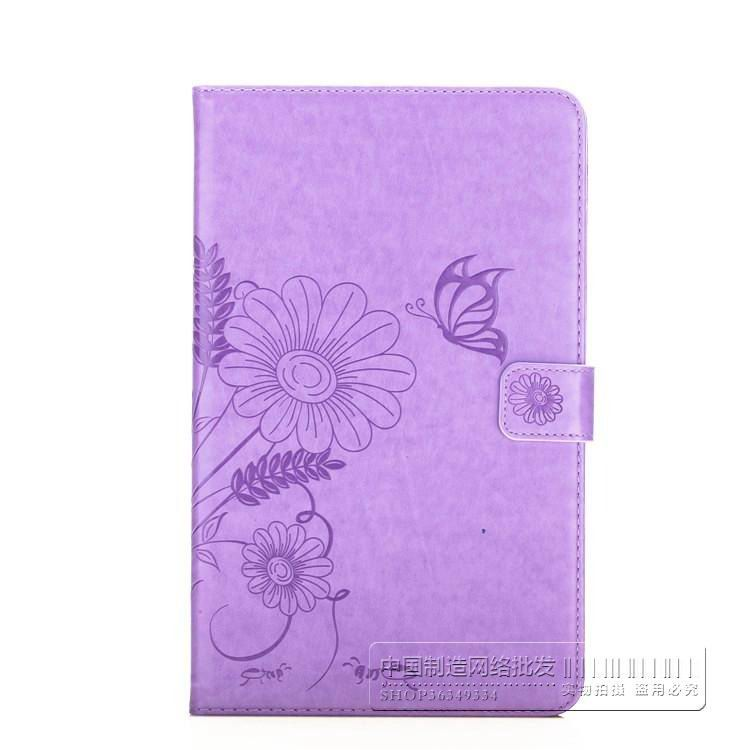 bright plain case with butterfly flower pattern samsung galaxy tab a 10 1 2016 sm t580 sm t585 00