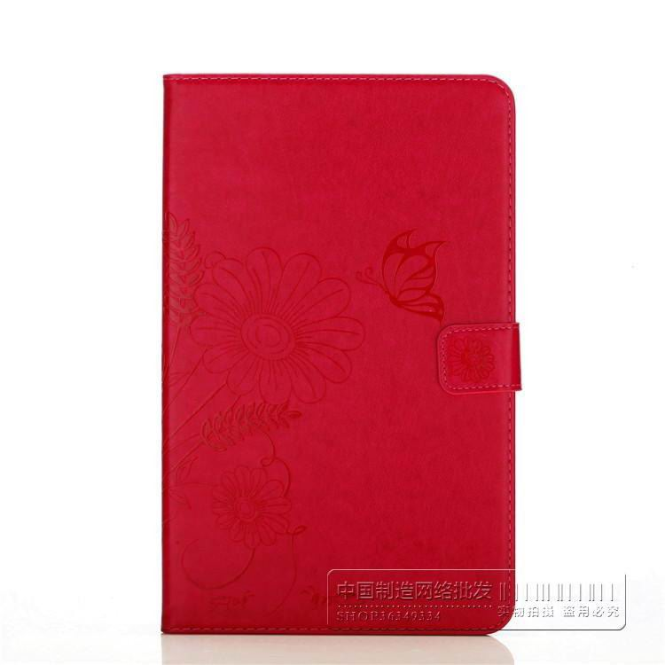 galaxy tab a 10 1 2016 bright plain case with butterfly flower pattern samsung galaxy tab a 10 1 2016 sm t580 sm t585 Red: