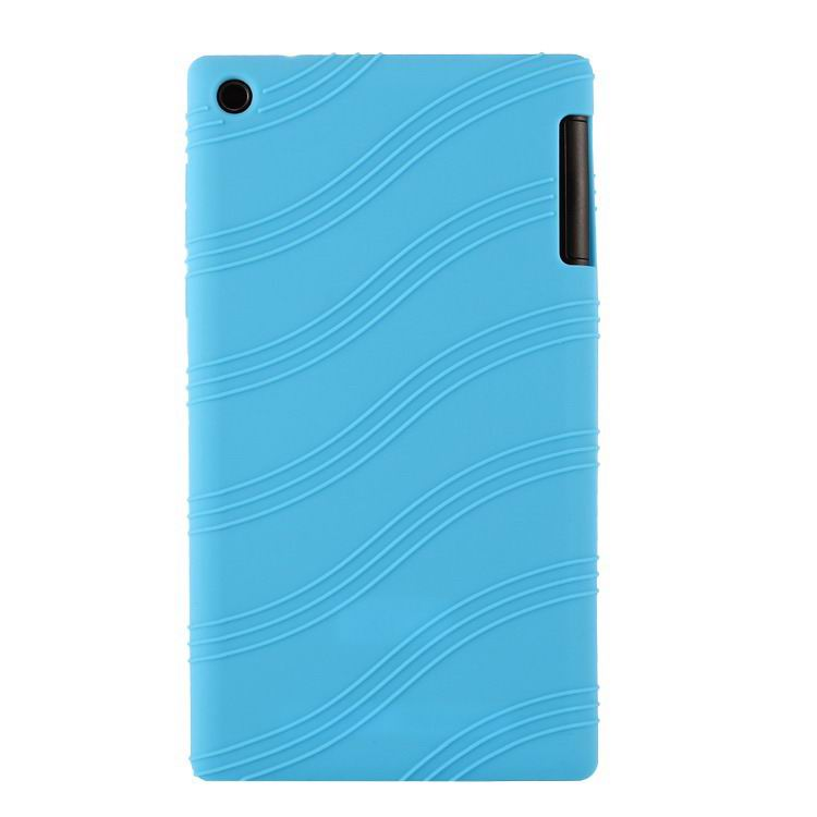 tab3 7 bright plain silicone cover light blue: