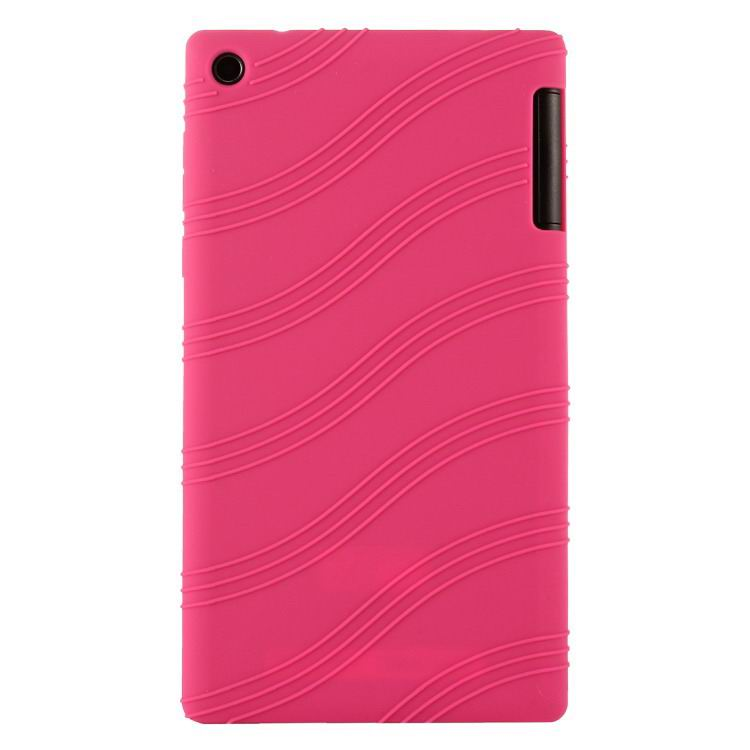 tab3 7 bright plain silicone cover rose red: