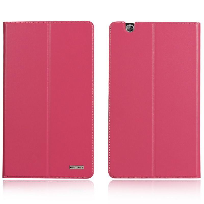 mediapad m3 business case with leather style pattern from huawei mediapad m3 btv w09 Rose red: