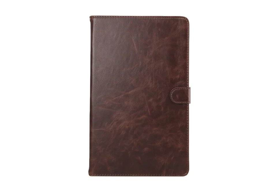 galaxy tab a 10 1 s pen 2016 business case with multicolor leather pattern and stand Brown: