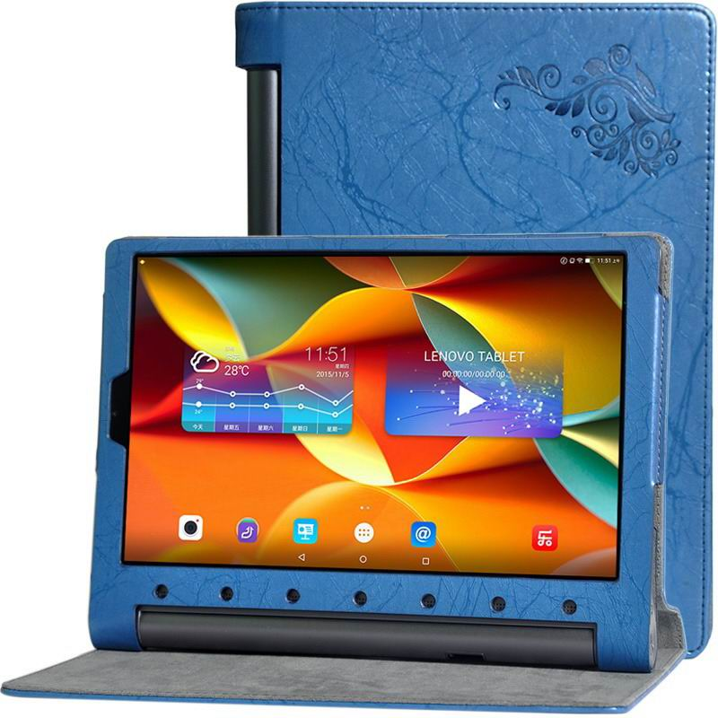 yoga tab 3 plus business case with multicolor pattern blue: