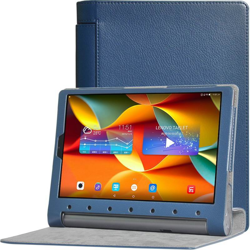 yoga tab 3 plus business case with multicolor pattern dark blue: