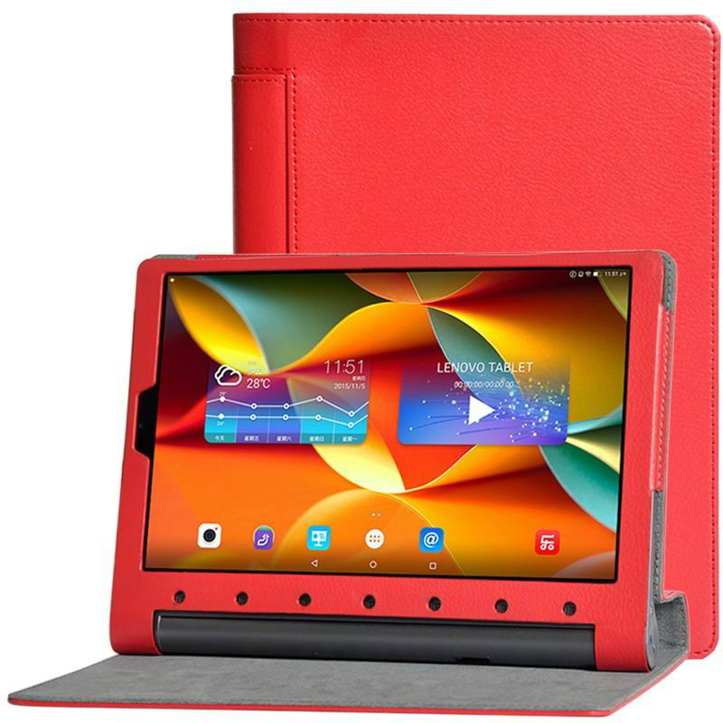 yoga tab 3 plus business case with multicolor pattern red: