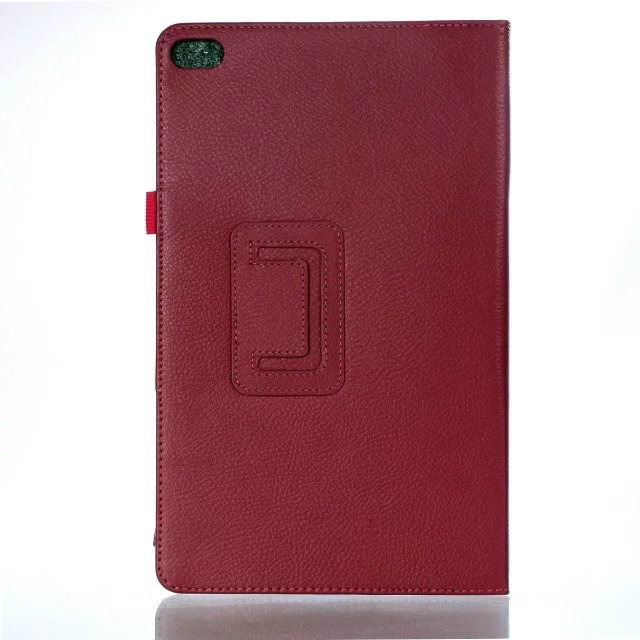 mediapad t2 10 pro business case with multicolor pattern and stand Rose red: