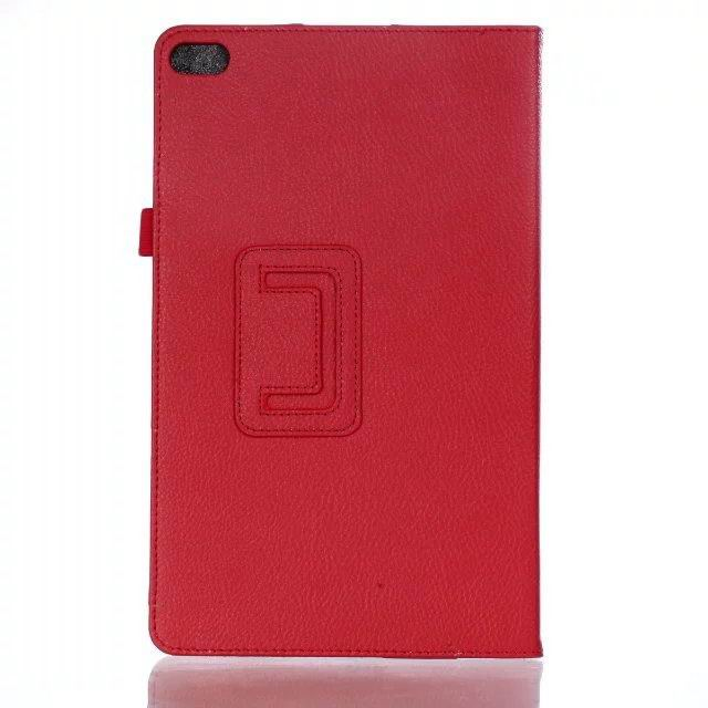 mediapad t2 10 pro business case with multicolor pattern and stand Red: