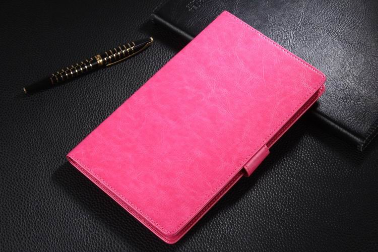 mediapad t1 70 plus business wallet case with leather pattern rose: