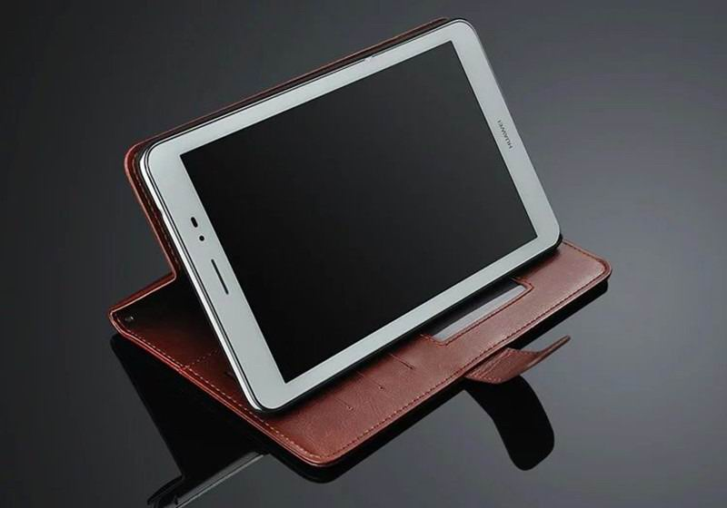 mediapad t1 70 plus business wallet case with leather pattern