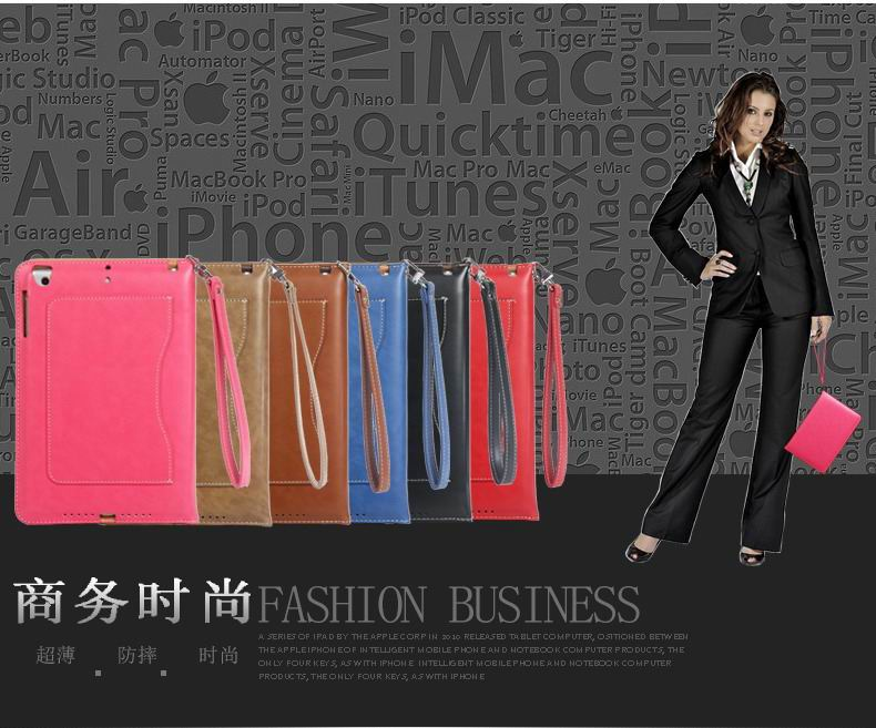 ipad pro 9 inch business wallet case with wrist loop