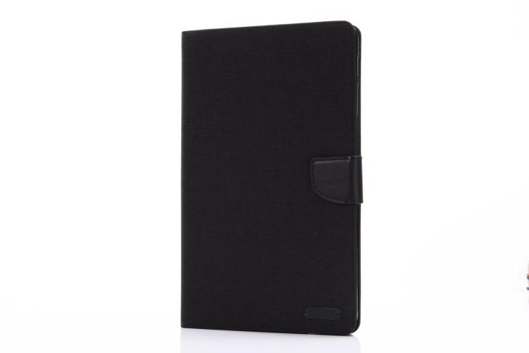 galaxy tab a 10 1 2016 case of fabric with card sections samsung galaxy tab a 10 1 2016 sm t580 sm t585 black: