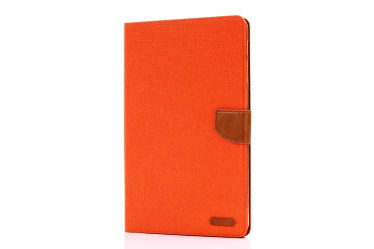galaxy tab a 10 1 2016 case of fabric with card sections samsung galaxy tab a 10 1 2016 sm t580 sm t585 orange: