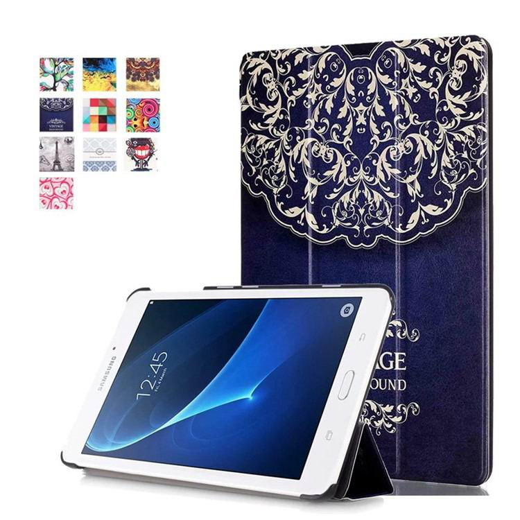 galaxy tab a 7 0 2016 case with bright pattern European style flower: