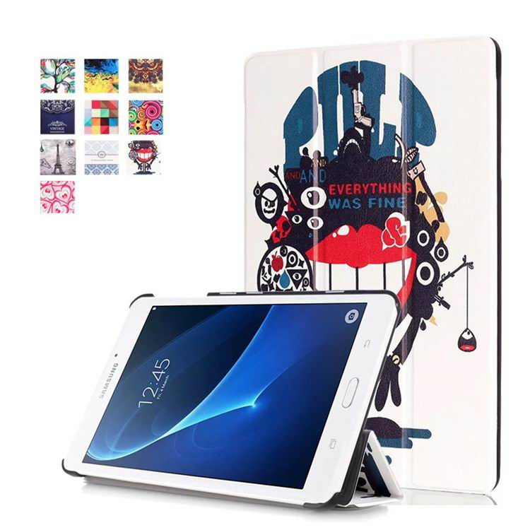 galaxy tab a 7 0 2016 case with bright pattern Big mouth monster: