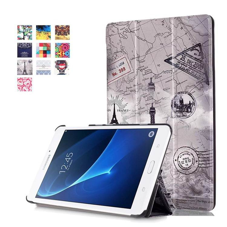 galaxy tab a 7 0 2016 case with bright pattern Vintage Tower: