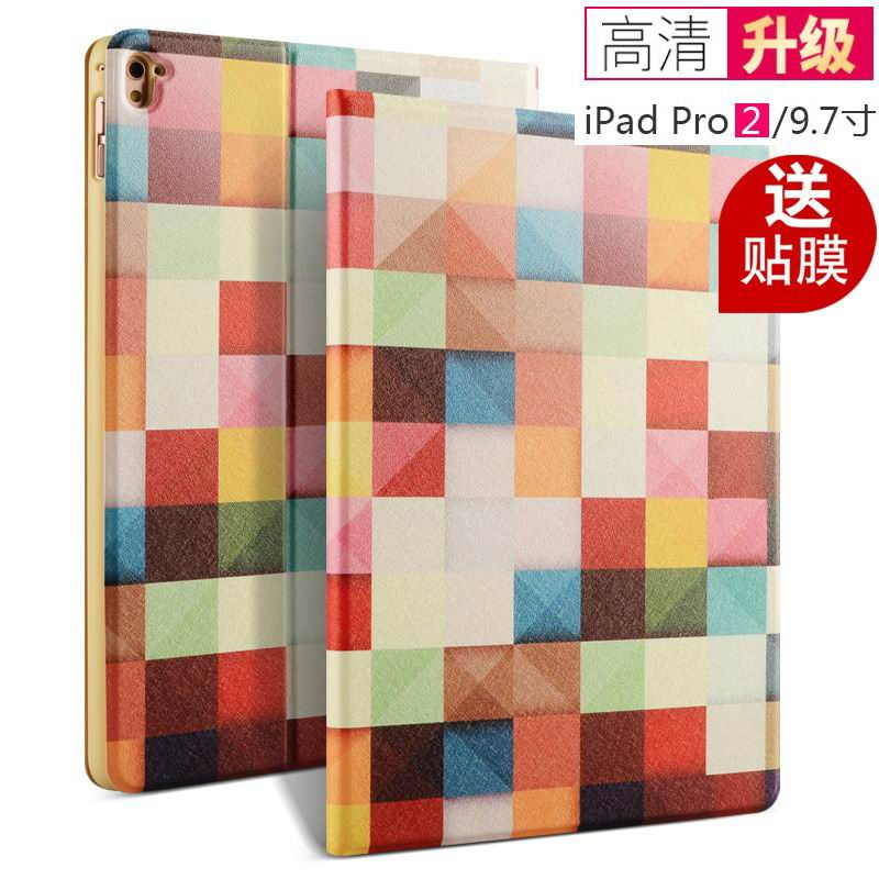 ipad pro 9 inch case with bright patterns and pictures of clouds peacock flowers and other sporty checkered: