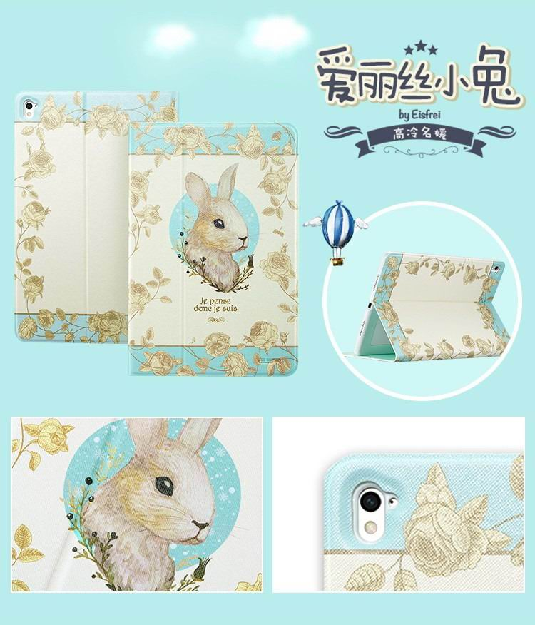 ipad pro 9 inch case with bright pictures of deer rabbit paris and other