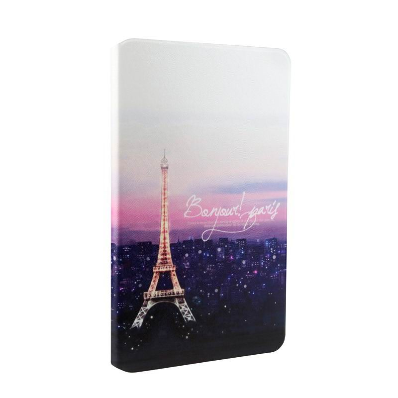 mediapad t1 70 plus case with bright pictures of flowers paris kitty luffy and other night Tower: