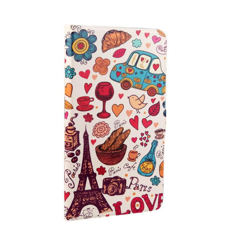 mediapad t1 70 plus case with bright pictures of flowers paris kitty luffy and other Paris:
