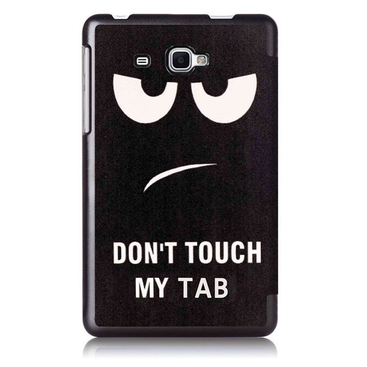 galaxy tab j case with bright pictures of trees and other Black bird: