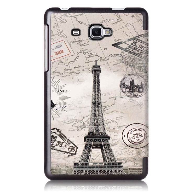 galaxy tab j case with bright pictures of trees and other Paris Tower: