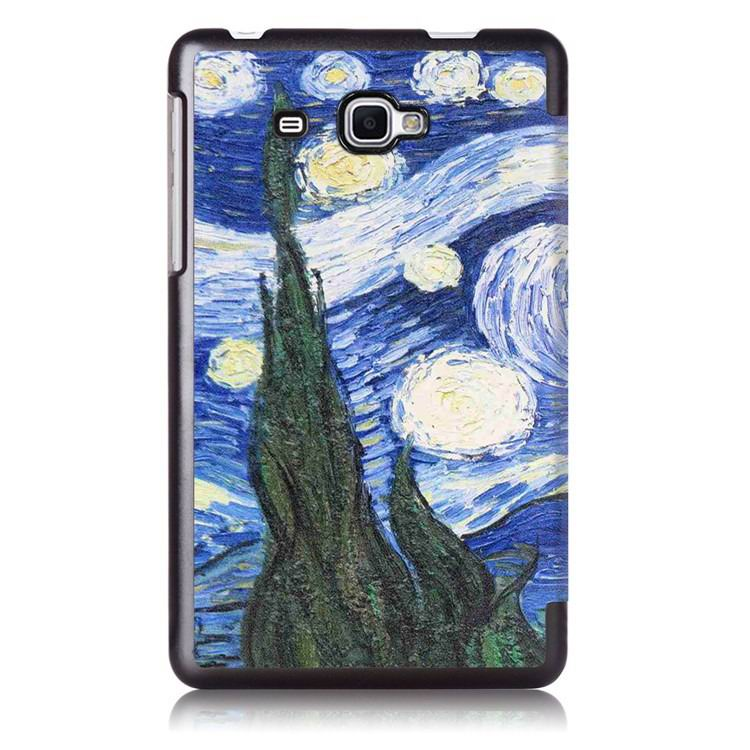 galaxy tab j case with bright pictures of trees and other Wheat fields: