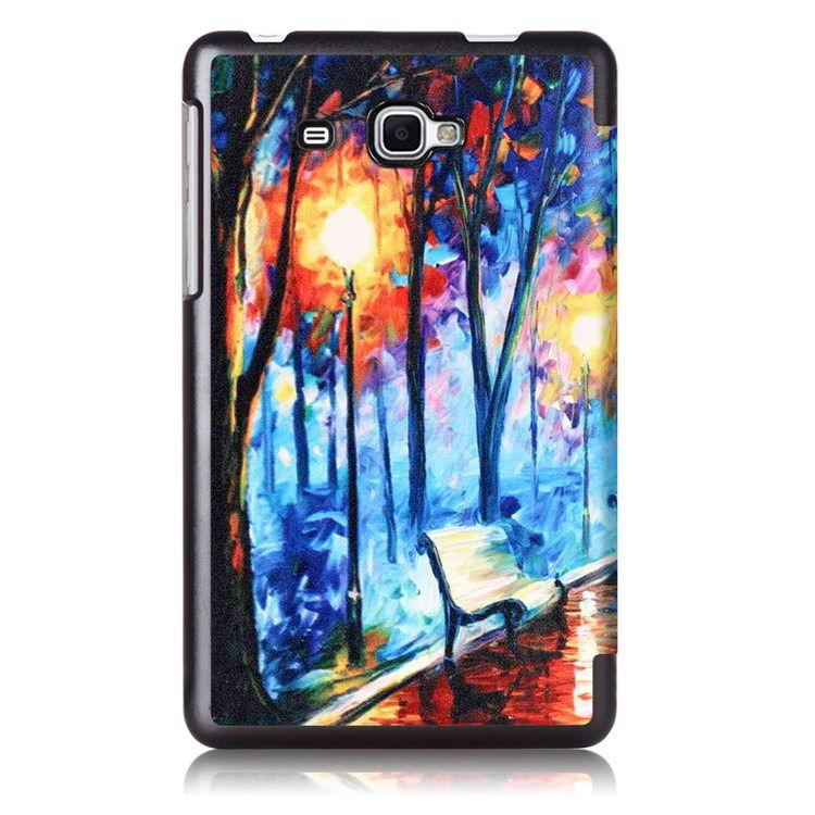 galaxy tab j case with bright pictures of trees and other Dusk tree: