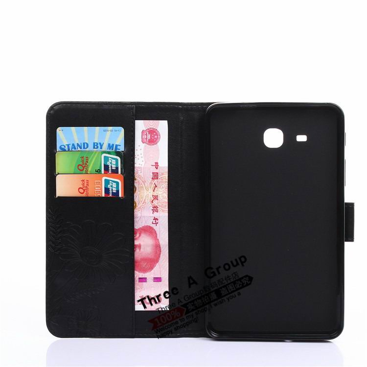 galaxy tab a 7 0 2016 case with butterfly picture and card slots