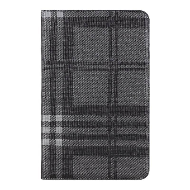 galaxy tab a 10 1 2016 case with card slots and pictures of map and plaid pattern samsung galaxy tab a 10 1 2016 sm t580 sm t585 Plaid black gray: