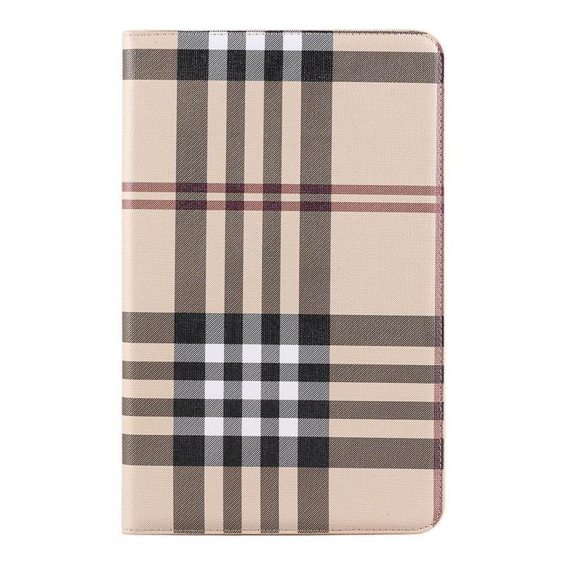 galaxy tab a 10 1 2016 case with card slots and pictures of map and plaid pattern samsung galaxy tab a 10 1 2016 sm t580 sm t585 Plaid khaki: