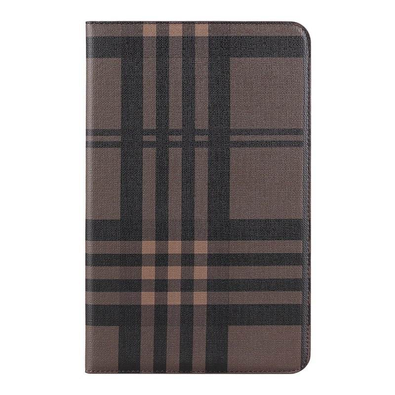 galaxy tab a 10 1 2016 case with card slots and pictures of map and plaid pattern samsung galaxy tab a 10 1 2016 sm t580 sm t585 Plaid brown: