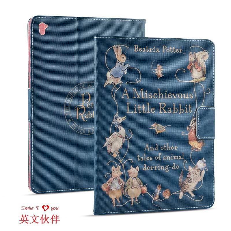 ipad pro 9 inch case with cartoon pictures of peter rabbit English partner: