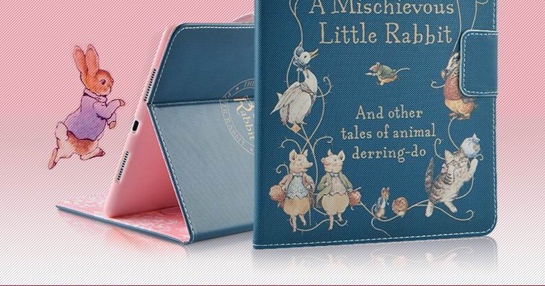 ipad pro 9 inch case with cartoon pictures of peter rabbit