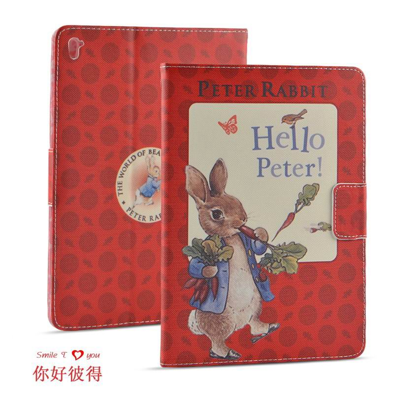 ipad pro 9 inch case with cartoon pictures of peter rabbit Hello Peter: