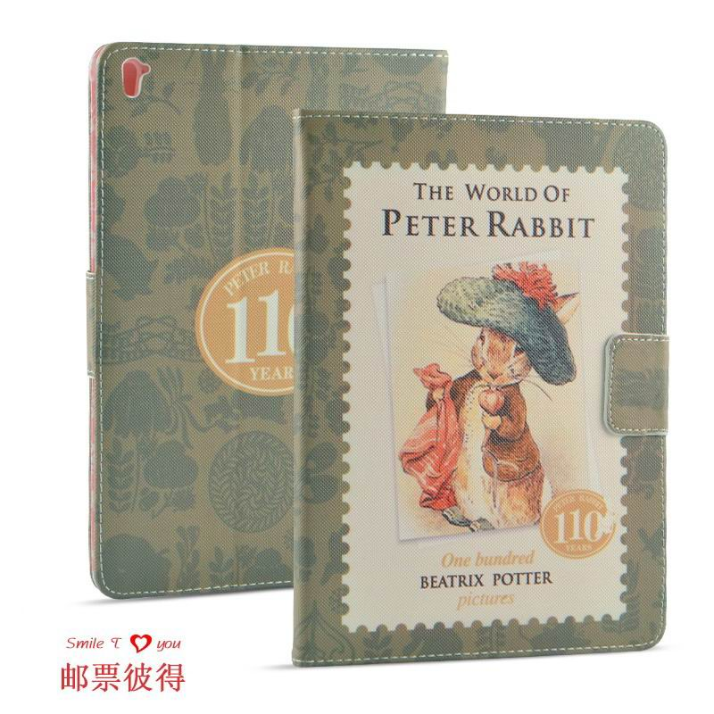 ipad pro 9 inch case with cartoon pictures of peter rabbit Stamp Peter: