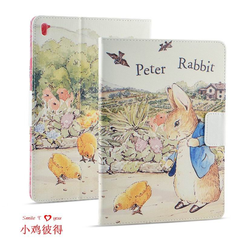 ipad pro 9 inch case with cartoon pictures of peter rabbit Chick Peter: